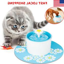 1.6L Pet Water Fountain Cat Dog Automatic Bowl Dish Drinking