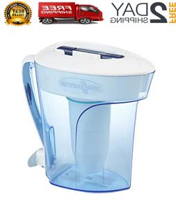 10-Cup Pitcher With 3 Replacement Filter And Free Water Qual