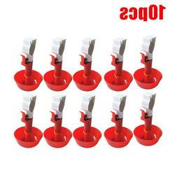 10pcs pigeon chicken drinker water dispenser automatic