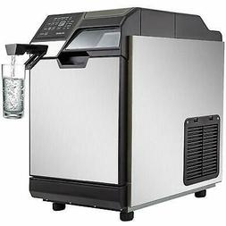 2 in 1 Commercial Ice Maker Ice Making Machine w/ Water Disp