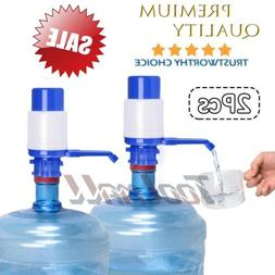 2 Pack Hand Pump Dispenser w/ Pipes for 5-6 Gal Gallon Bottl
