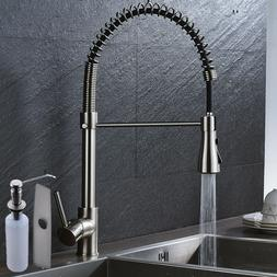 2-water Model Pull Down Spray Kitchen Sink Faucet Mixer Tap