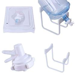 3-5 Gallon Water Jug Stand With 1Pcs White Dispenser Valve A