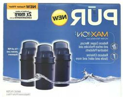 3 Pack PUR Max Ion Water Filter Fits All PUR Pitchers & Disp