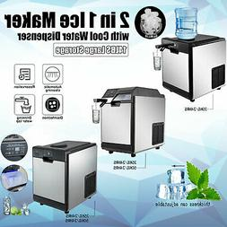 Commercial Ice Maker Ice Making Machine with Cool Water Disp