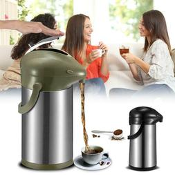 3L Stainless Steel Insulated Thermal Carafe Coffee Pot Dispe