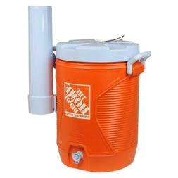 5 Gal Orange Water Cooler Home Depot Attachable Cup Dispense