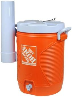 5 Gal Orange Water Cooler Home Depot Brand Attachable Cup Di