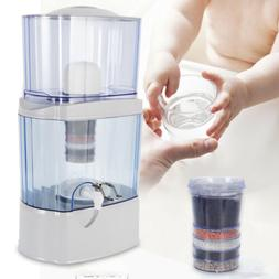 5 Stage 24L Water Filter Ceramic Carbon Mineral Benchtop Dis