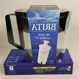 Brita - SOHO Pitcher Water Filtration System Black - 5 Cup