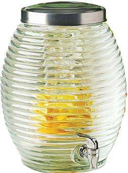 Circleware Beehive Huge 3.5 Gallon Glass Beverage Drink Disp
