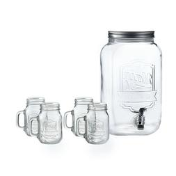 Jay Imports Beverage Dispenser Set - Dispenser / 4 Mason Jar