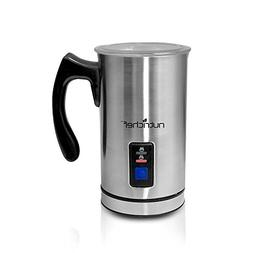 NutriChef PKMFR10 Electric Milk Frother and Warmer, Stainles