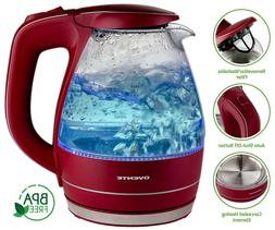 Ovente 1.5L BPA-Free Glass Electric Kettle, Fast Heating wit