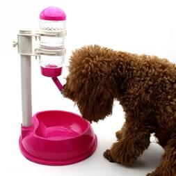 Automatic Water Dispenser Stand Feeder Bottle Plastic Dog Ca