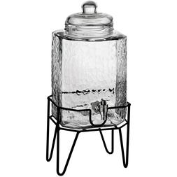 Hamburg Beverage Dispenser Glass Metal Stand lemonade water
