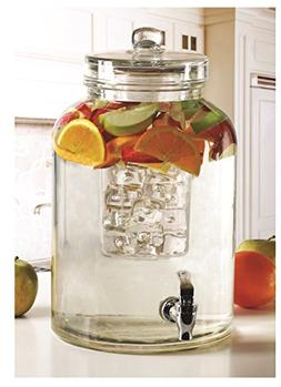 Circleware Brington Glass Beverage Drink Dispenser with Ice