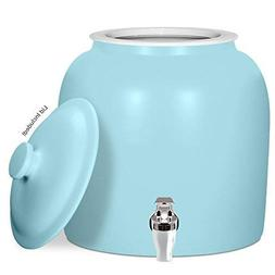 Brio Matte Colored Porcelain Ceramic Water Dispenser Crock w