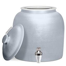 Brio Polished Porcelain Ceramic Water Dispenser Crock with F