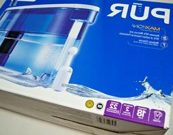 PUR Classic Water Filter Pitcher Dispenser, 18 Cup, Clear Wi