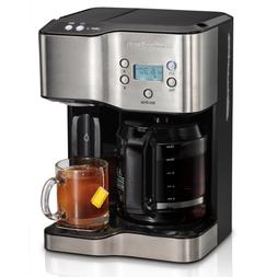Coffee Maker with Hot Water Dispenser 12-Cup Programmable Bl