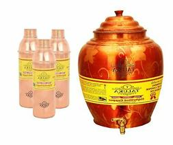 Handmade Copper Water Pot Dispenser Tank 16 Liter With 3 PC