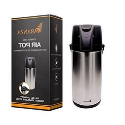 Varanza Double Walled Stainless Steel Air Pot - Insulated Be