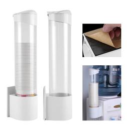 Dust-proof Water Cup Dispenser Paper Plastic Cups Holder One