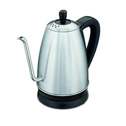 Hamilton Beach Electric Gooseneck Kettle, 1.2 Liter , Stainl
