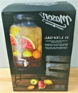 Mason Craft & More glass drink water dispenser with stand 11