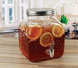 Circleware Glass Hobnail Beverage Dispenser