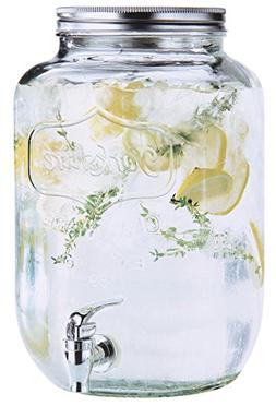 Estilo 2 gallon Glass Single Mason Jar Beverage Drink Dispen
