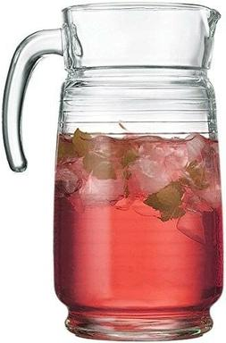 Glass Water Pitcher Large Carafe Cold Beverage Juice Drink D