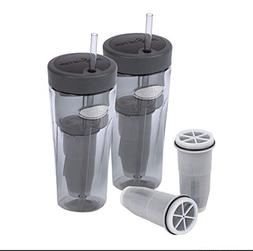 ZeroWater On-The-Go Filtered Tumblers 2-Pack and Bonus Filte