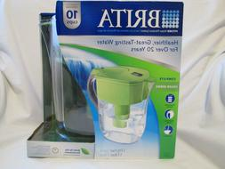 Brita Grand Water Filter Pitcher, Green, 10 Cups, 1 ea