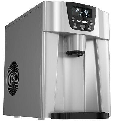 2 In 1 Ice Maker Countertop 26Lbs/24H Silver
