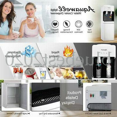 5 Hot/Cold Water Water Cooler with Storage Cabinet