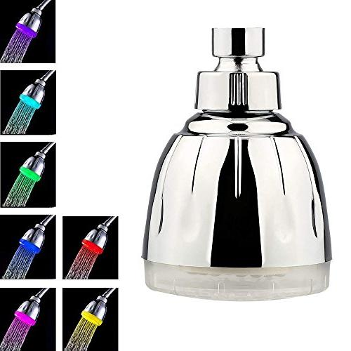 7 colorful fast flashing shower