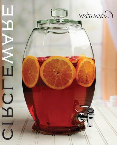 Circleware Dispenser Sun Jar with Spigot Entertainment Water for Wine, and Drinks, 3
