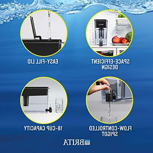 Brita Extra Large Cup Dispenser and Free -