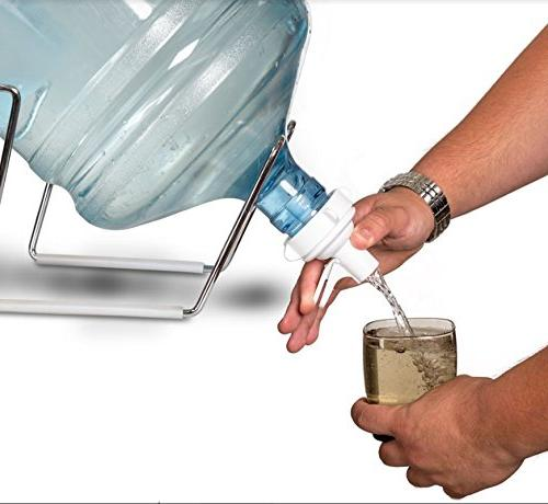 FineDine Plated Gallon Water and White Rust-Resistant Non Slip Stand Fast for 55MM Non Crown Water