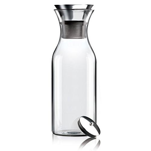 Hiware Drip-free with Steel Silicone - Pitcher Glass Fridge Tea Maker