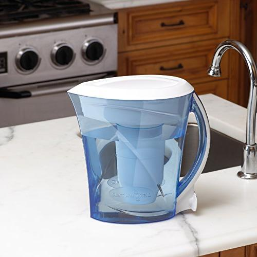 ZeroWater BPA-Free Cup Includes Filter Water Meter, Blue and