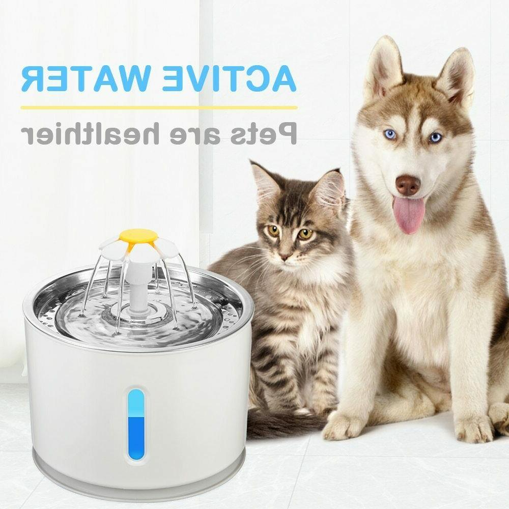 Automatic Fountain Drinking Dispenser Electric Dog Filter