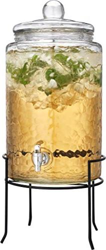 3 Gallon Beverage Drink Dispenser Clear Glass Ice Tea Party