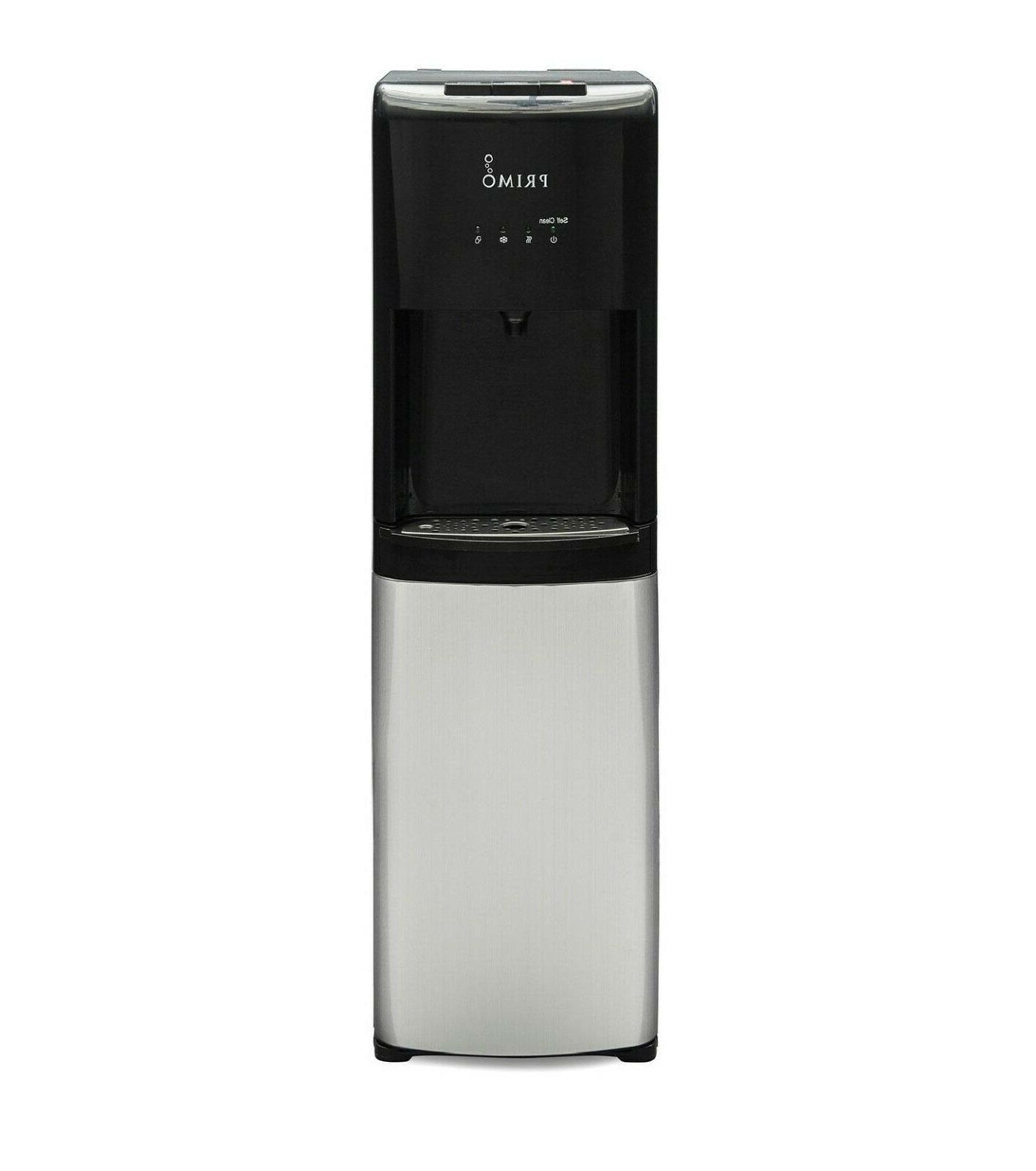 Hot Cold Water Dispenser Black 5 Gallon Capacity Bottom Load