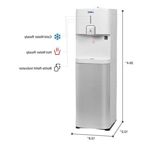Lago CLBL200 Load Hot, White Water Cooler Dispenser