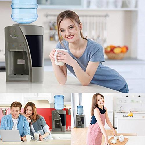 Nutrichef Countertop Water Dispenser Cold Holds 3 or Bottles -