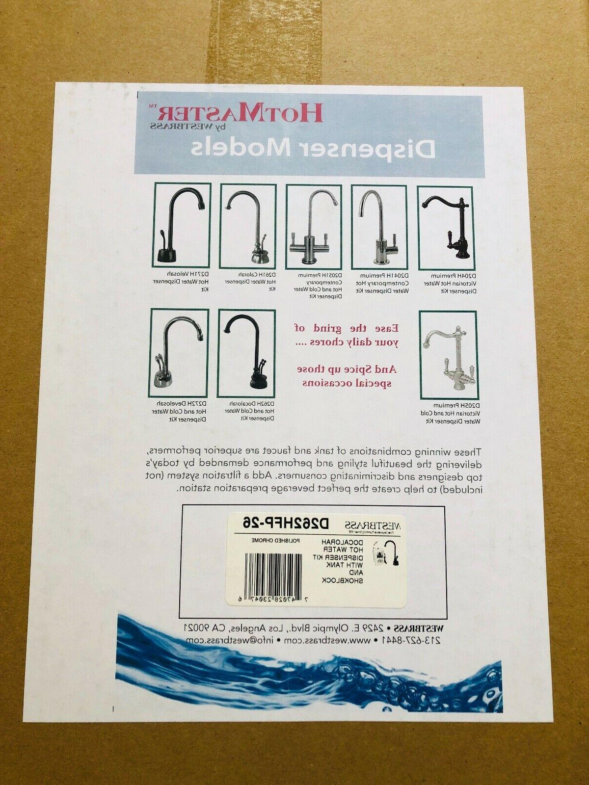 Westbrass 2-Handle Faucet with Hot Tank