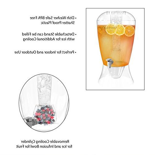 2 Dispenser-BPA-Free, Shatter Proof, Stand, Cooling for Bowl for Classic